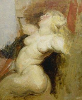 Eugene Delacroix: Kopie einer nackten Frauenfigur aus dem Medici-Zyklus von Rubens