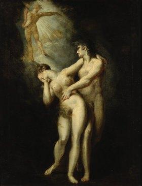 Johann Heinrich Füssli: Die Vertreibung aus dem Paradies