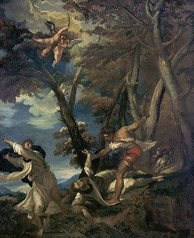Théodore Géricault: Das Martyrium des hl. Petrus. Kopie nach einem zerstörten Gemälde von Tizian