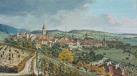 Johann Joseph Hartmann: Blick auf Biel und den See