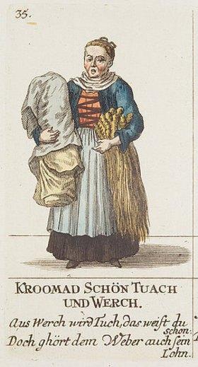 David Herrliberger: Die Tuchverkäuferin. Aus Basslerische Ausruffbilder