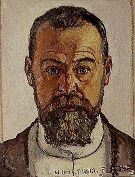 Ferdinand Hodler: Selbstbildnis 1912. - ferdinand-hodler-selbstbildnis-1912