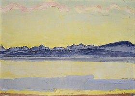 Ferdinand Hodler: Der Montblanc mit roten Wolken