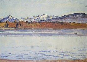 Ferdinand Hodler: Die schneebedeckte Montblanc-Kette