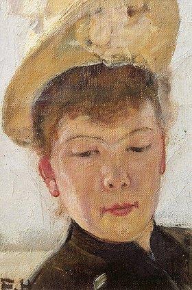 Ferdinand Hodler: Die erste Frau des Künstlers mit gelbem Hut
