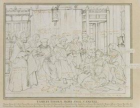 Hans Holbein d.J.: Entwurf für das Familienbild des Thomas More, London