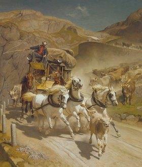 Rudolf Koller: Die Gotthard-Post