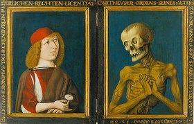 Baseler Meister: Bildnis des Hieronymus Tschekkenbürlin mit dem Tod. Diptychon