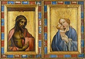 Böhmischer Meister: Christus als Schmerzensmann und Maria mit dem Kind. Diptychon