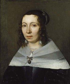 Niederländischer Meister: Portrait einer Dame (ehemals Bildnis der Sibylla Merian)