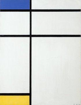 Piet Mondrian: Komposition blau, gelb und weiss