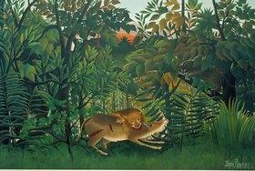 Henri Rousseau: Der hungrige Löwe