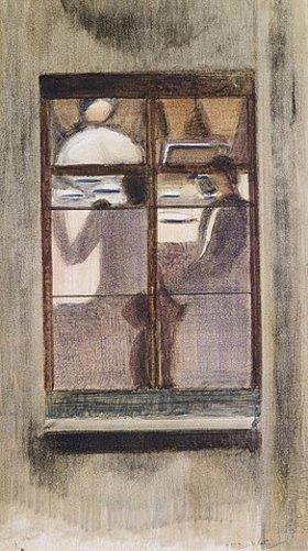 Oskar Schlemmer: Fensterbild I. (Abendessen im Nachbarhaus)