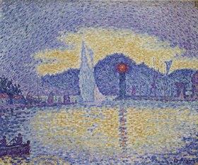Paul Signac: Kaimauer und Leuchtturm