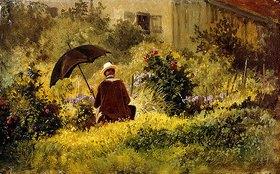 Carl Spitzweg: Der Maler im Garten
