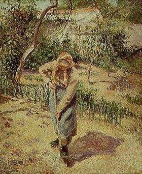 Camille Pissarro: Bauersfrau bei der Gartenarbeit