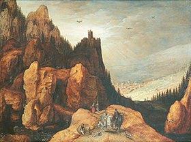 Tobias Verhaecht: Alpenlandschaft mit Burg
