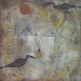 Paul Klee: Krähenlandschaft. 1925.