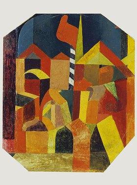 Paul Klee: Architektur mit der roten Fahne