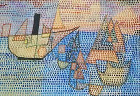 Paul Klee: Dampfer und Segelboote. 1931. T