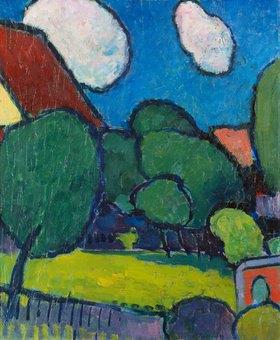 Alexej von Jawlensky: Grosse Wolken, grosse Bäume