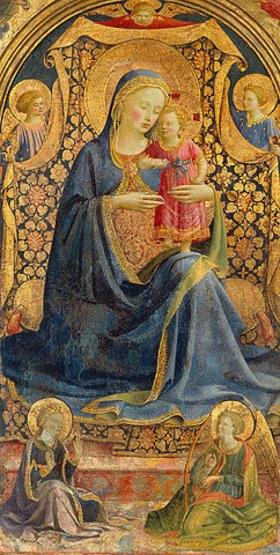 Fra Angelico: Thronende Maria mit dem Jesuskind, von Engeln umgeben