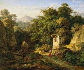 Ernst Fries: Italienische Landschaft bei Subiaco