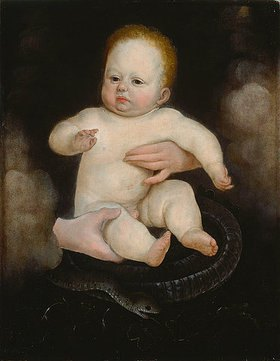 Hans Bock d.Ä.: Kopie des Christuskindes aus der sogenannten Solothurner Madonna von Holbein