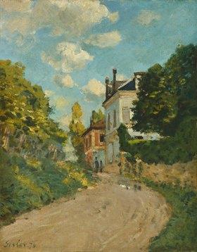 Alfred Sisley: Blick in die Rue de Moubuisson in Louveciennes