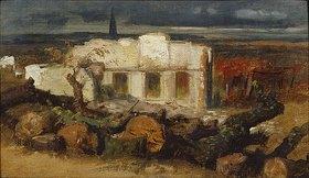 Arnold Böcklin: Zerstörtes Haus bei Kehl