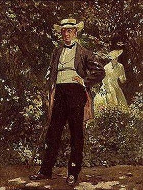 Frank Buchser: William Herny Seward in seinem Garten