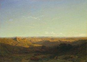 Alexandre Calame: Verkarstete Berglandschaft im Süden