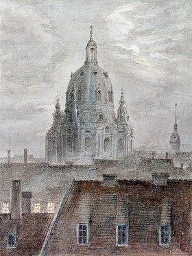 Carl Gustav Carus: Die Frauenkirche in Dresden
