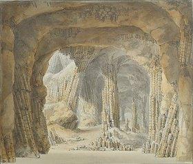 Carl Gustav Carus: Inneres der Fingalshöhle auf der Insel Staffa. Nach