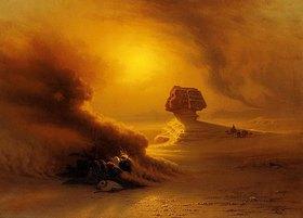 Johann Jakob Frey: Eine vom Samum überraschte Karawane vor der Sphinx
