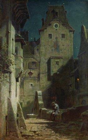Carl Spitzweg: Der eingeschlafene Nachtwächter