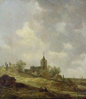 Jan van Goyen: Dorfkirche in Dünenlandschaft