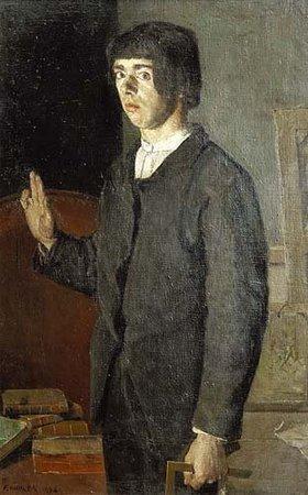 Ferdinand Hodler: Der Studierende (Selbstbildnis)