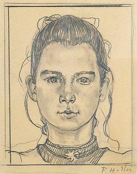 Ferdinand Hodler: Portrait eines jungen Mädchens