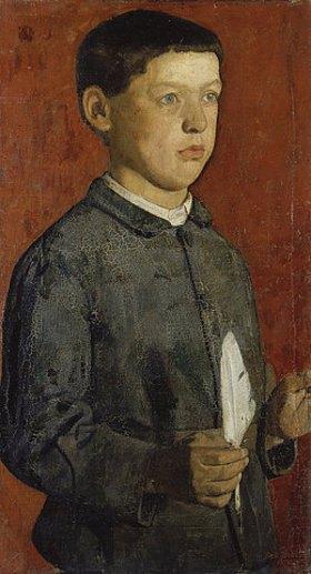 Ferdinand Hodler: Der Knabe mit der Feder (Der Schüler, Ferdinand Hodlers Bruder August)