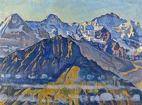 Ferdinand Hodler: Eiger, Mönch und Jungfrau in der Sonne