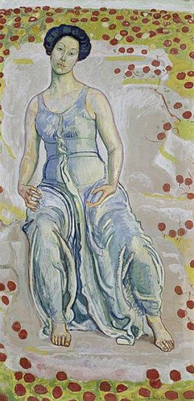 Ferdinand Hodler: Frauenfigur aus der Komposition 'Heilige Stunde'