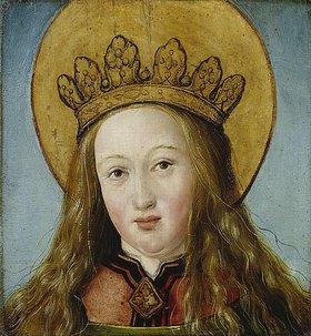 Hans Holbein d.J.: Kopf einer gekrönten Heiligen