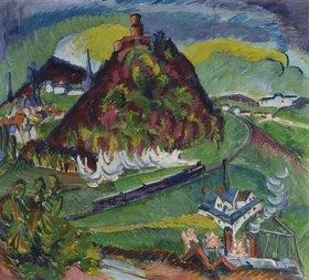 Ernst Ludwig Kirchner: Königstein mit Eisenbahn