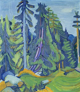 Ernst Ludwig Kirchner: Bergwaldbäume