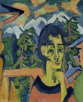 Ernst Ludwig Kirchner: Mädchen im Föhn