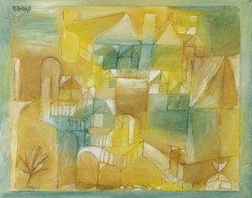 Paul Klee: Fassade braun grün. 1919.