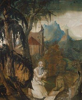 Hans Leu: Der hl.Hieronymus in der Wildnis
