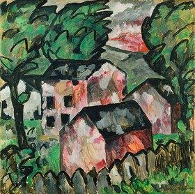 Kasimir Malewitsch: Landschaft mit roten Häusern