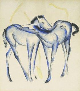 Franz Marc: Zwei blaue Pferde